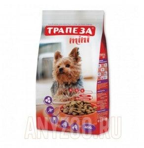 Трапеза Мини сухой корм для собак мелких и миниатюрных пород