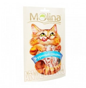 фото Molina Молина Лакомство для кошек Куриный сэндвич