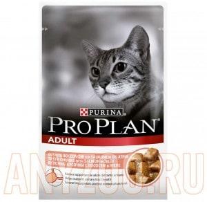 фото Pro Plan Adult Пауч для кошек Кусочки с Лососем