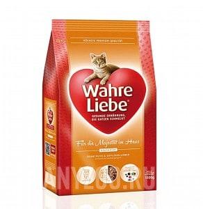 Wahre Liebe Hauskatze Варе Либе сухой корм для домашних кошек с индейкой и печенью