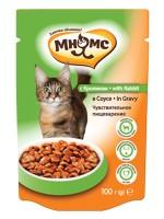 Мнямс паучи для взрослых кошек с кроликом в соусе Чувствительное пищеварение