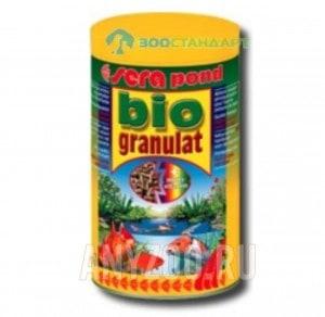 фото Sera Biogranulat гранулированный корм для всех рыб, обитающих в открытых водоемах