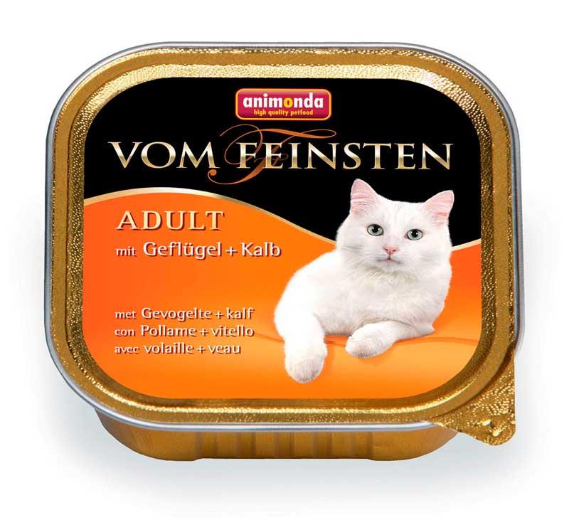 Фото товара Animonda Vom Feinsten Adult Анимонда консервы для кошек с домашней птицей и телятной