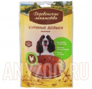 Деревенские лакомства Традиционные для собак 100% Куриные дольки нежные