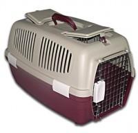 фото Triol переноска для животных с железной решеткой (с люками)