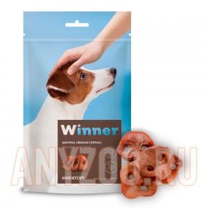 Мираторг Winner лакомство для собак Шкурка свиная(пятак) охлажденная дой пак