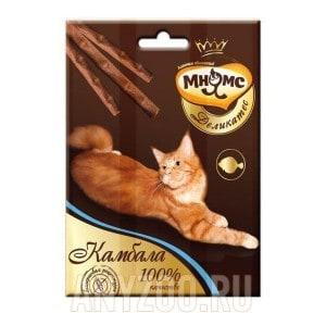 Мнямс Деликатес Лакомые палочки с камбалой для кошек 9см