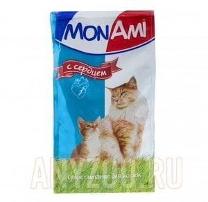 МонАми сухой корм для кошек с сердцем
