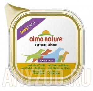 фото Almo Nature Dailymenu паштет для собак с курицей и горошком