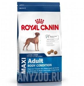 Купить Royal Canin Maxi Adult Body Condition Роял Канин Макси Эдалт Боди Кондишн Сухой корм для собак с высокими энергитическими потребностями