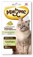 Лакомство Мнямс  Хрустящие подушечки с курицей и сыром для кошек Здоровье и активность