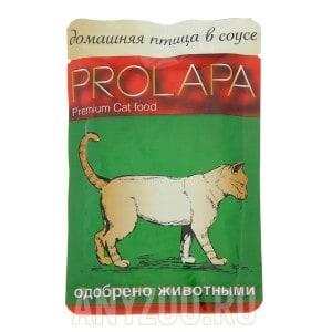 фото Prolapa Пролапа паучи для взрослых кошек домашняя птица в соусе