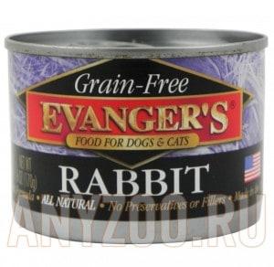 фото Evanger`s Grain-free - беззерновые консервы для собак и кошек с Кроликом