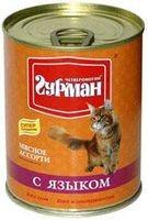 Четвероногий Гурман Мясное ассорти консервы для кошек с языком