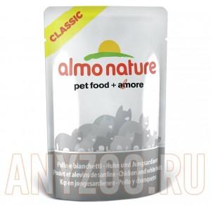 фото Almo Nature Classic Альмо Натюр Классик пауч для кошек Курица и Сардинки