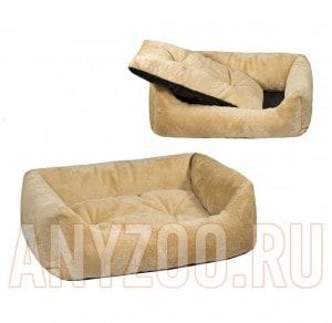 Дарелл Zoo-M Лежак Lion для собак и кошек прямоугольный пухлый, бежевый