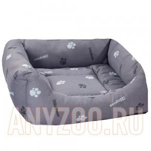 Дарэлл Лежак квадратный пухлый  с подушкой (хлопок разноцветный,синтепух+периотек)
