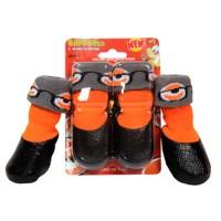 Барбоски носки для собак с латексным покрытием на завязках цвет оранжевый