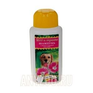 Пчелодар шампунь для собак с мёдом и геранью