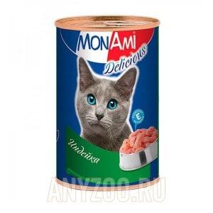МонАми Delicious Консервы для кошек Паштет с индейкой
