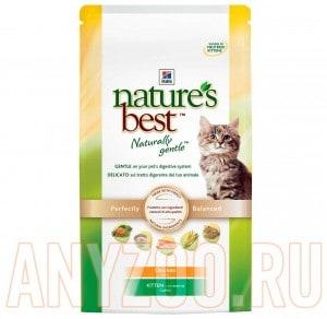 Купить Hills Nature Best Kitten - Хилл`c Натур Бэст Киттен  сухой для котят (курица с овощами)