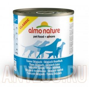фото Almo Nature Classic консервы для собак с полосатым тунцом
