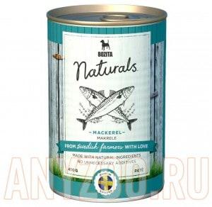 Купить Bozita Naturals Mackerel консервы для собак мясной паштет  со Скумбрией