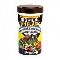 фото Prodac Продак Tropical fish flakes комплексный корм для всех тропических аквариумных рыб в хлопьях