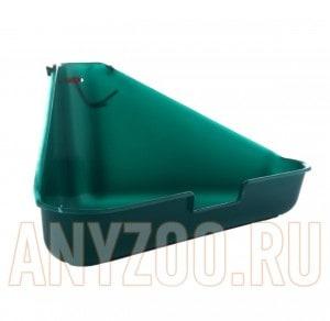 фото I.P.T.S. 810897 Туалет для грызунов угловой, зеленый цвет
