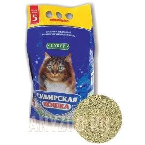 Сибирская Кошка Супер комкующийся наполнитель для кошек