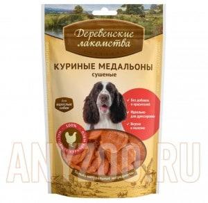 фото Деревенские лакомства Традиционные для собак 100%  Куриные медальоны сушеные