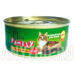 фото Clan Family Консервы для взрослых кошек паштет из телятины №24