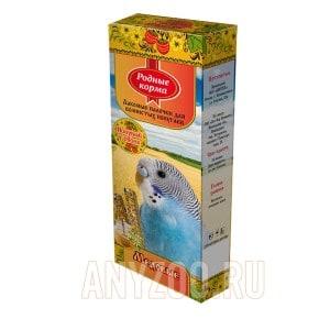 Родные корма зерновая палочка для попугаев с мёдом
