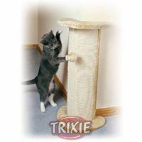 """фото Trixie Когтеточка угловая """"Lorca"""", 37 х 27 х 75см, с игрушкой, бежевая"""