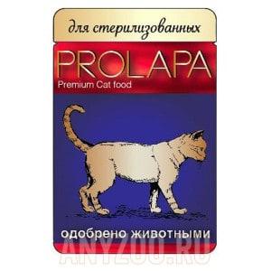 фото Prolapa Пролапа паучи для стерилизованных кошек птица в соусе