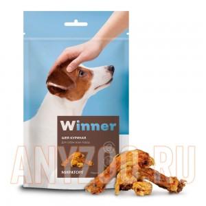 Мираторг Winner лакомство для собак Шеи куриные охлажденные дой пак