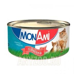 МонАми Delicious Консервы для кошек с говядиной