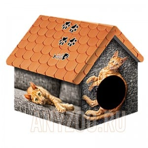 фото PerseiLine Персилайн Дизайн домик для животных Рыжий кот