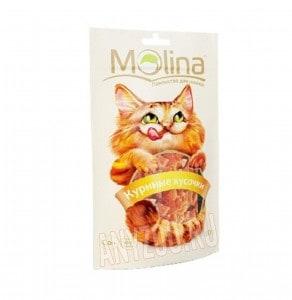 фото Molina Молина Лакомство для кошек Куриные кусочки