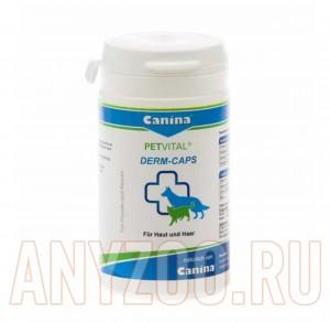 фото Canina Petvital Dеrm Caps Канина Дерм капс витамины для ослабленной шерсти, кожи собак и кошек