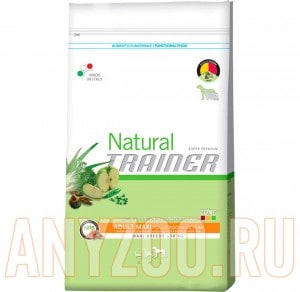 Купить Trainer Natural Adult Maxi Polo Ris Aloe vera Сухой корм для собак крупных пород Курица/рис/Алоэ