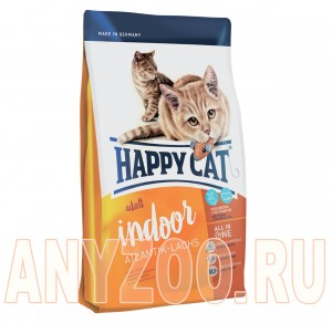 Купить Happy Cat Adult Indoor Сухой корм для домашних кошек Атлантический лосось