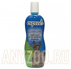 фото Espree Dark Coat Aloe Herb Oil Shampoo Эспри шампунь для собак и кошек с темной шерстью с маслами
