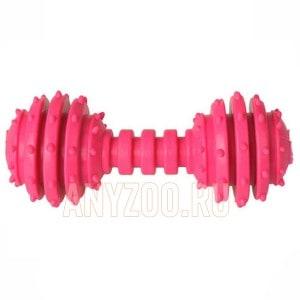 Грызлик Dental игрушка для собак гантель с шипами 12см