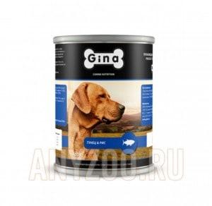 фото Gina  Джина консервы  для взрослых собак Тунец и рис