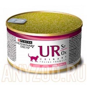 фото Pro Plan Veterinary Diets Urinary Feline UR Консервы для кошек при МКБ мусс с лососем
