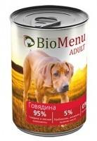 фото BioMenu Adult Консервы для собак Говядина 95%-Мясо