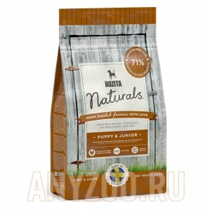Купить Bozita Naturals Puppy & Junior 25/13 сухой корм для щенков Всех пород