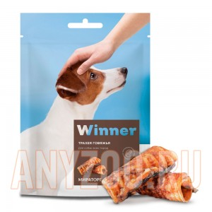 Мираторг Winner лакомство для собак Трахея говяжья охлажденнае дой пак