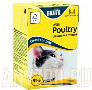 Купить Bozita Mini Tetra Pak д/кошек кусочки в желе с Домашней птицей